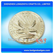 usa brass coin with gold plated eagle for souvenirs