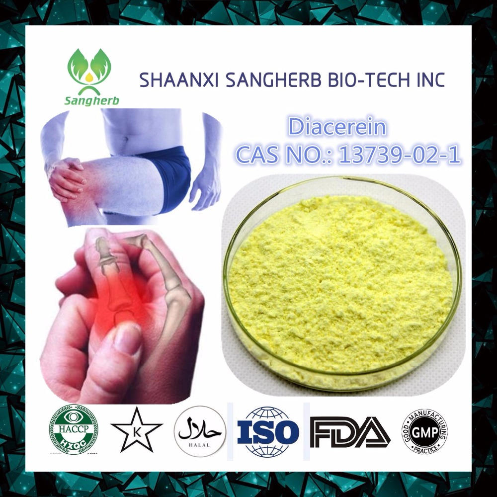 Sangherb wholesale high purity Diacerein powder 13739-02-1 with fast delivery