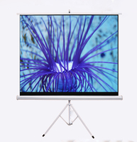 120 Inch Fast Folding Tripod Stand Projector Screen