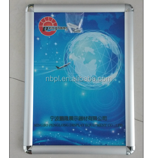 aluminum alloy wall mounted snap frames, portrait frame, clip poster frame