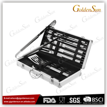 18pcs Stainless Steel BBQ Grill Tools Set with Aluminum Case