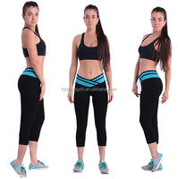 New athletic apparel cycling leggings women girls wearing wholesale yoga pants