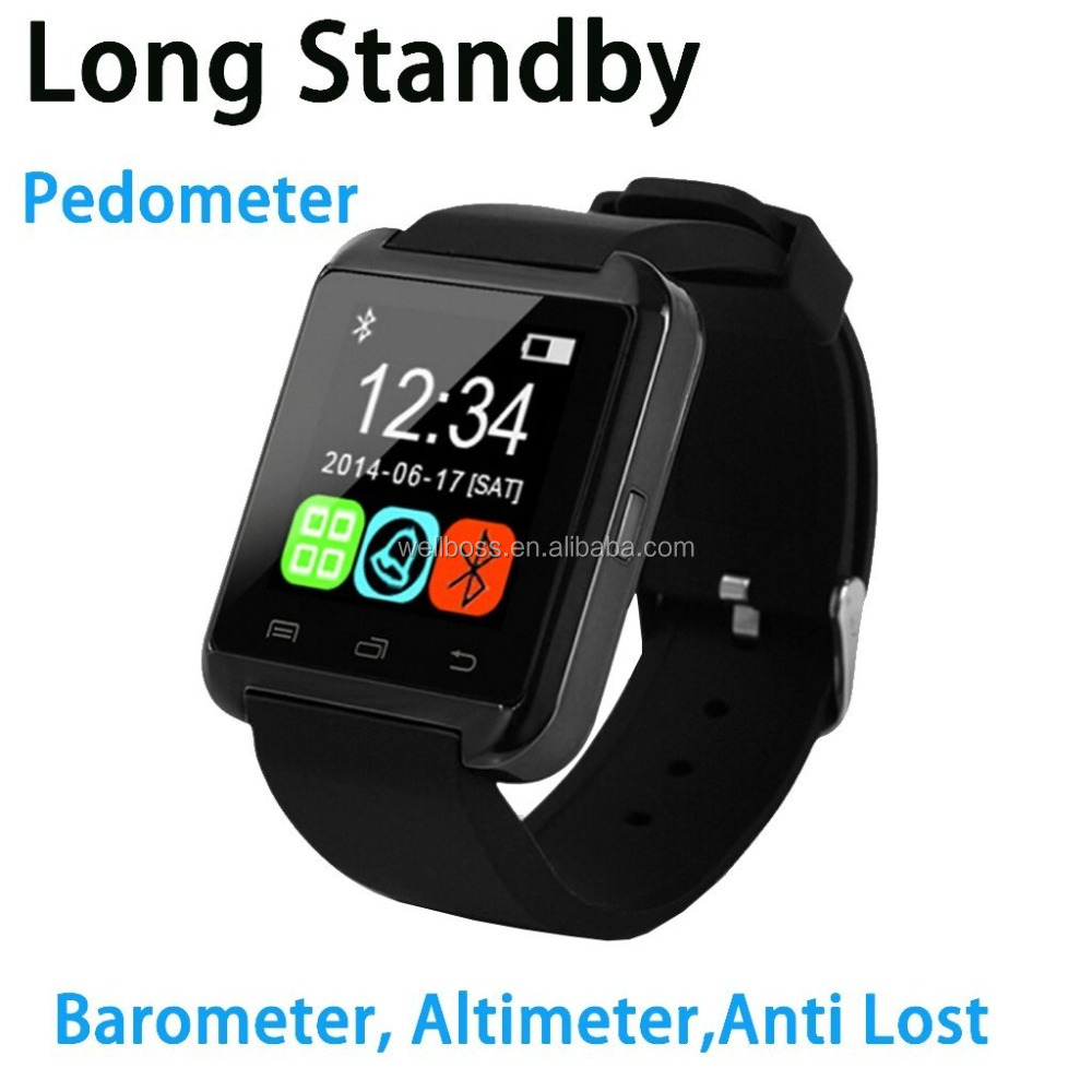 Bluetooth Smart Watch WristWatch U8 UWatch Fit for Smartphones IOS Apple iphone 4/4S/5/5C/5S Android Samsung S2/S3/S4/Note 2/Not