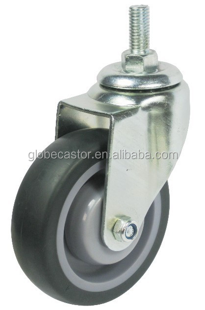 100mm TPR caster wheel for trolleys