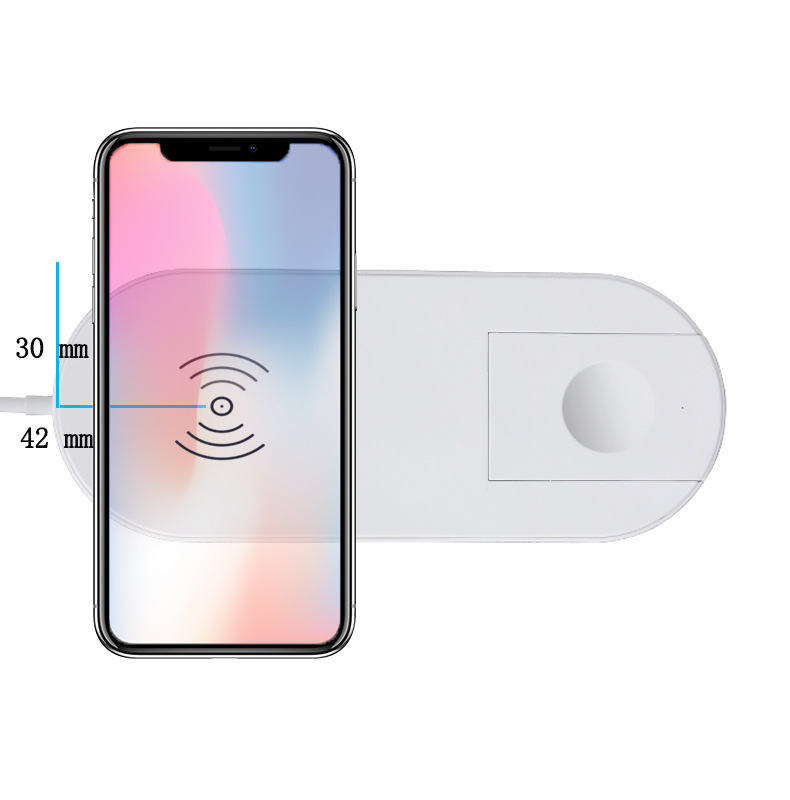 2 in 1 CE FCC ROHS 10W 7.5W wireless quick charging wireless <strong>mobile</strong> <strong>phone</strong> charger wireless fast charging for watch and <strong>phone</strong>