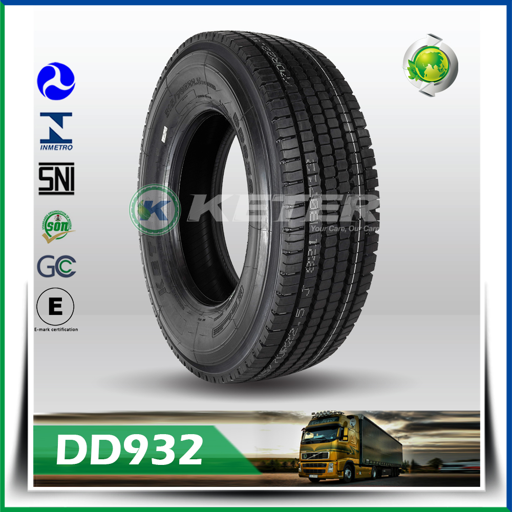 China best TBR tyre brand Keter radial tubeless bus truck tyre 9.5R17.5 9.5R22.5 10R22.5