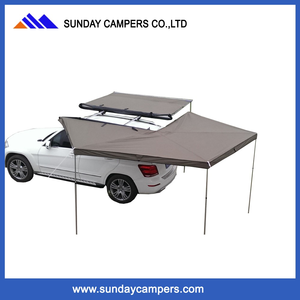 4*4 Single layer foldable roof tent foxwing awning for family camping