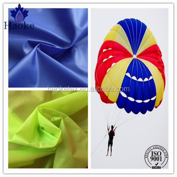 durable waterproof tearproof ripstop nylon 66 parachute fabric