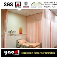 flame retardant and antibacterial hospital bed curtains