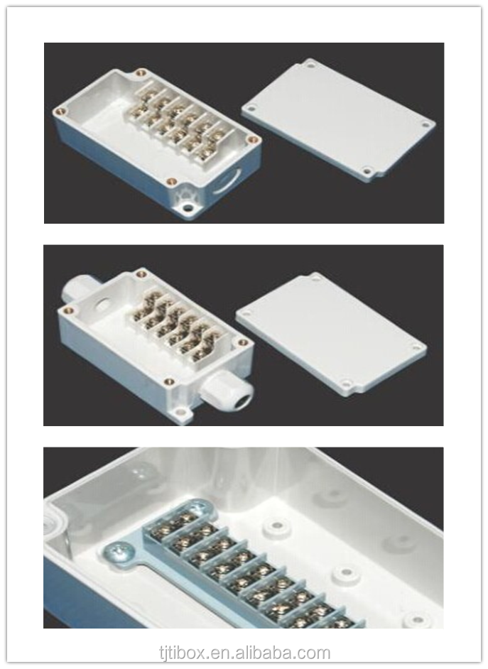 OEM metal case/waterproof electrical/ din rail plastic terminal box