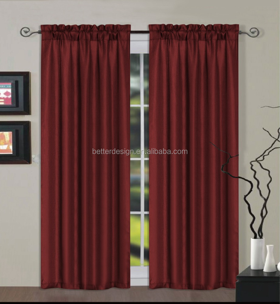 1PC Blackout Faux Linen Curtain With Continuous Curtain Fabric