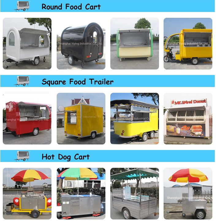 Mobile outdoor stainless taco food trailer in Shanghai