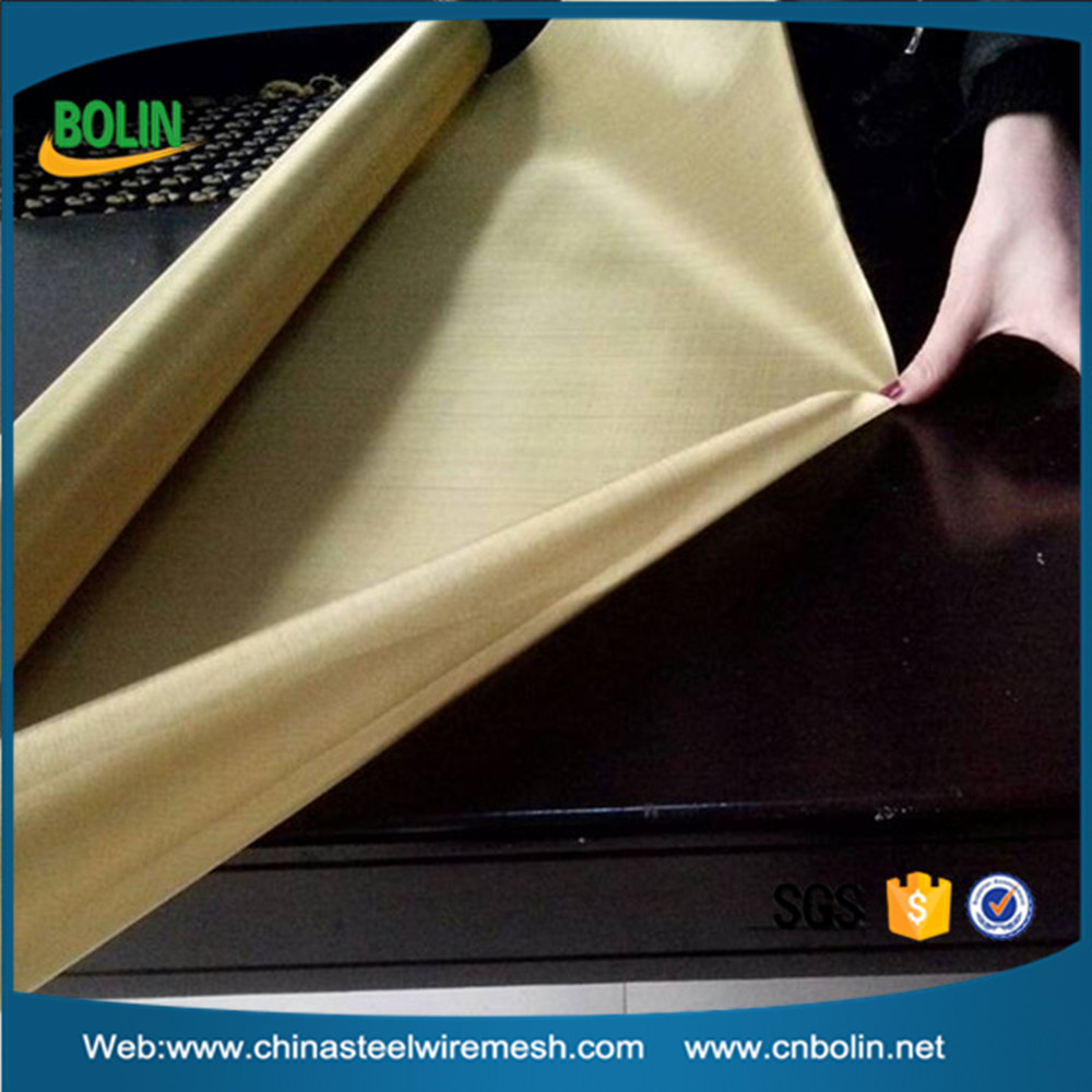 Brass Wire Mesh Fabric Shields from Electromagnetic Interference and Electrostatic Fields