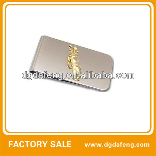 silver smart simple branded souvenir money clip