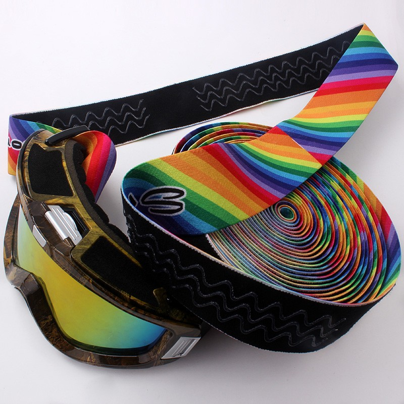 High Quality Polyester Comfortable Wearing Custom Printed Wide Elastic Bands for Ski Goggles