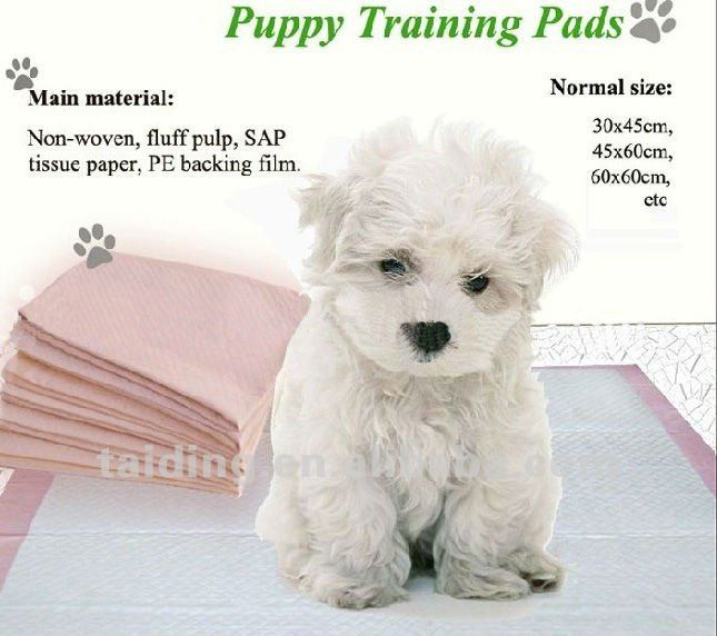 60*60cm cloth like super soft washable waterproof urine absorbent disposable puppies pet training pad with breathable backsheet