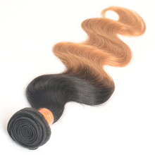 1B/27# Wet and Wavy Ombre Brazilian Hair Weave Body Wave Ombre Human Hair Weft Brazilian Ombre Weave Hair Extension