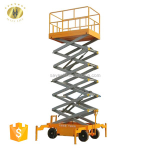 7LSJY Shandong SevenLift outdoor electric mobile hydraulic scissor lift for painting
