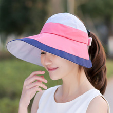 UV Headwear Ladies Wide Brim Caps Hat With Ponytail Hole