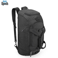 Wholesale 3 way durable nylon foldable travel sport gym duffel backpack with shoe compartment