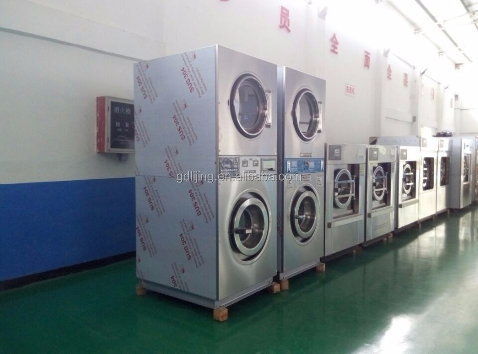Coin combo washer and dryer for self service laundry