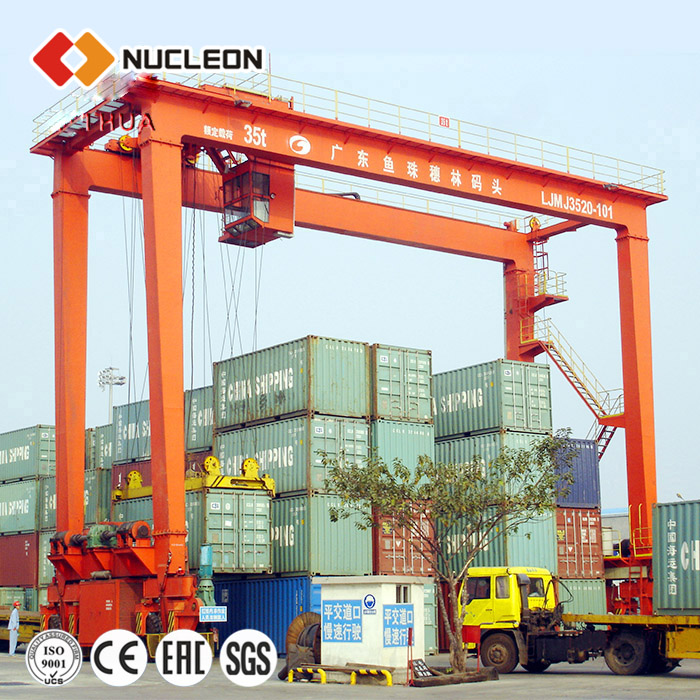 portal 500 ton rubber tyre gantry rtg container crane price for sale