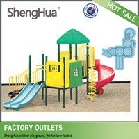 Outdoor Playground Children Playground Slide Swing And Slide Set