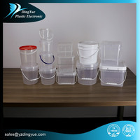8L square plastic container with lid with metal handle
