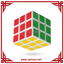 Hot sale 3*3*3 ABS white magic cube education toys promotional magic cube , custom