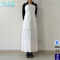 Kitchen food processing use long pvc disposable aprons