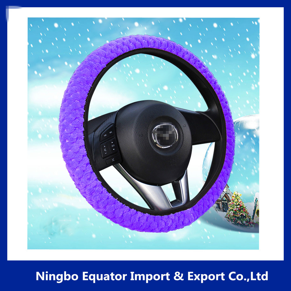 fuzzy fur winter warm universal car steering wheel cover