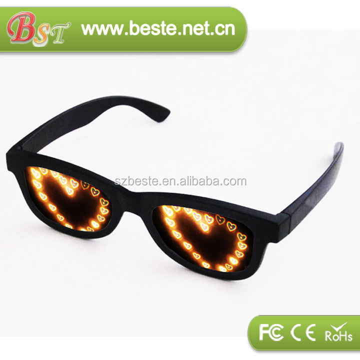 Promotion gift plastic diffraction glasses for Xmas celebration