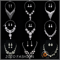 2016 Wedding Gold Necklace Designs Fashion Bridal Jewelry Necklace Set
