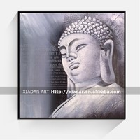 hand painted canvas decor buddha face oil painting on canvas many good design