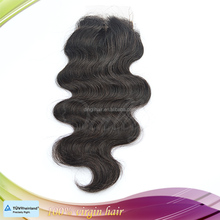 Very smooth tangle free Brazilian human hair cheap lace closure 4*4 size