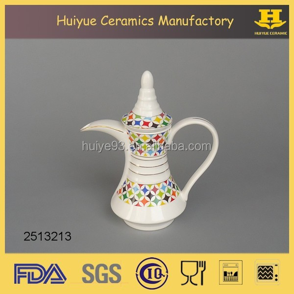 Ceramic daily used Arabic coffee pot