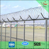 pvc coated dark green Y type fence post factory in China