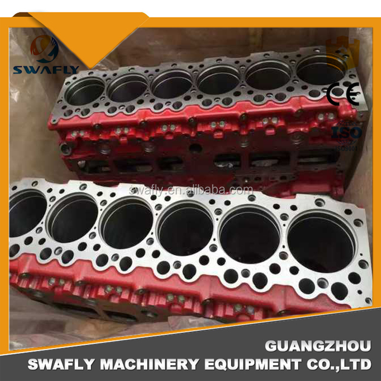HINO P11C Engine Cylinder Block For Kobelco SK460-8 Excavator Engine Spare Parts