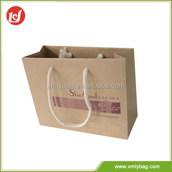 Best selling customized fashion durable kraft design paper bag