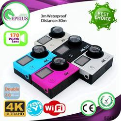 FACTORY OUTLETS H3 WIFI 4K hd mini sport dv 1080p manual 2.0 INCH SCREEN SPORTS CAM