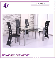 Dining Room Furniture Modern Dining Set Glass Table Dining Table and Chairs