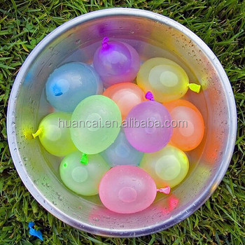 Balloon In Plastic With Rubber Ring Water Balloon 9 Inch Toy