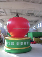 customized new style giant inflatable apple for advertising