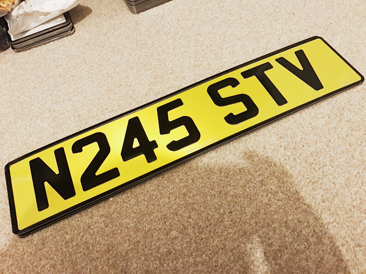 Custom Number Plate London Yellow Font License Plates Reflective Film