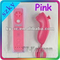 Pink 2in1 Remote Nuchuck controller for Wii