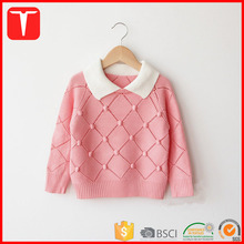 Latest new designs handmade sweaters for girls with pompom