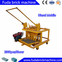Diesel Mobile Concrete Hollow Block Making Machine QM4-45
