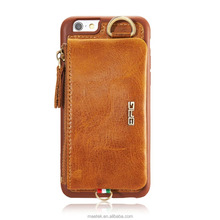Original Genuine Leather Luxury Cell Phone Assesories Back Casing Flip Wallet Cover Case for iPhone 6 6s