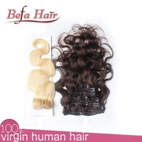 wholesale price shop clip in hair,real virgin curly hair extension,one piece clip in human hair extensions