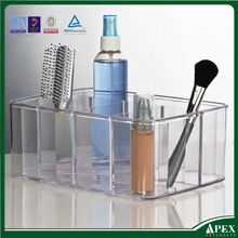 Acrylic plastic bathroom organizer with 5 compartment